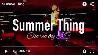 "SUMMER THING (AFROJACK feat. MIKE TAYLOR)"" - Zumba Dance Fitness Choreo by KC (WARM UP)"
