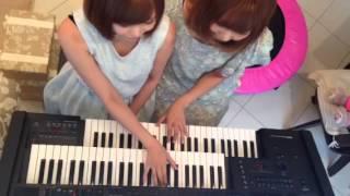 安藤ちひろと田崎里菜によるデュオ♫ エレクトーン2人で弾いてみました*\(^o^)/*