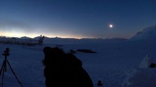Total solar eclipse 20 march 2015 Go pro 3/Полное солнечное затмение Шпицберген, Пирамида