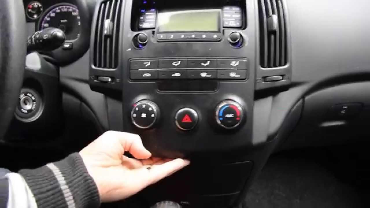 Radio Blende Hyundai I30 Entfernen Manuelle Klima Bis