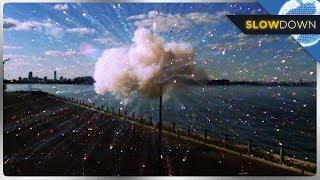 Fireworks Exploding in Slow Motion!