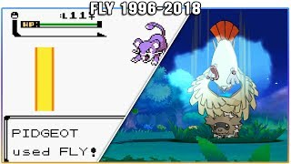 Evolution of Fly - Pokémon Moves (1996-2018)