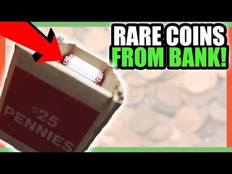 COIN HUNTING FOR RARE COINS WORTH MONEY - PENNY ROLL HUNTING!!