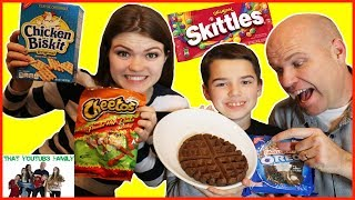 WAFFLING WEIRD FOOD COMBINATIONS - Which is Best? / That YouTub3 Family
