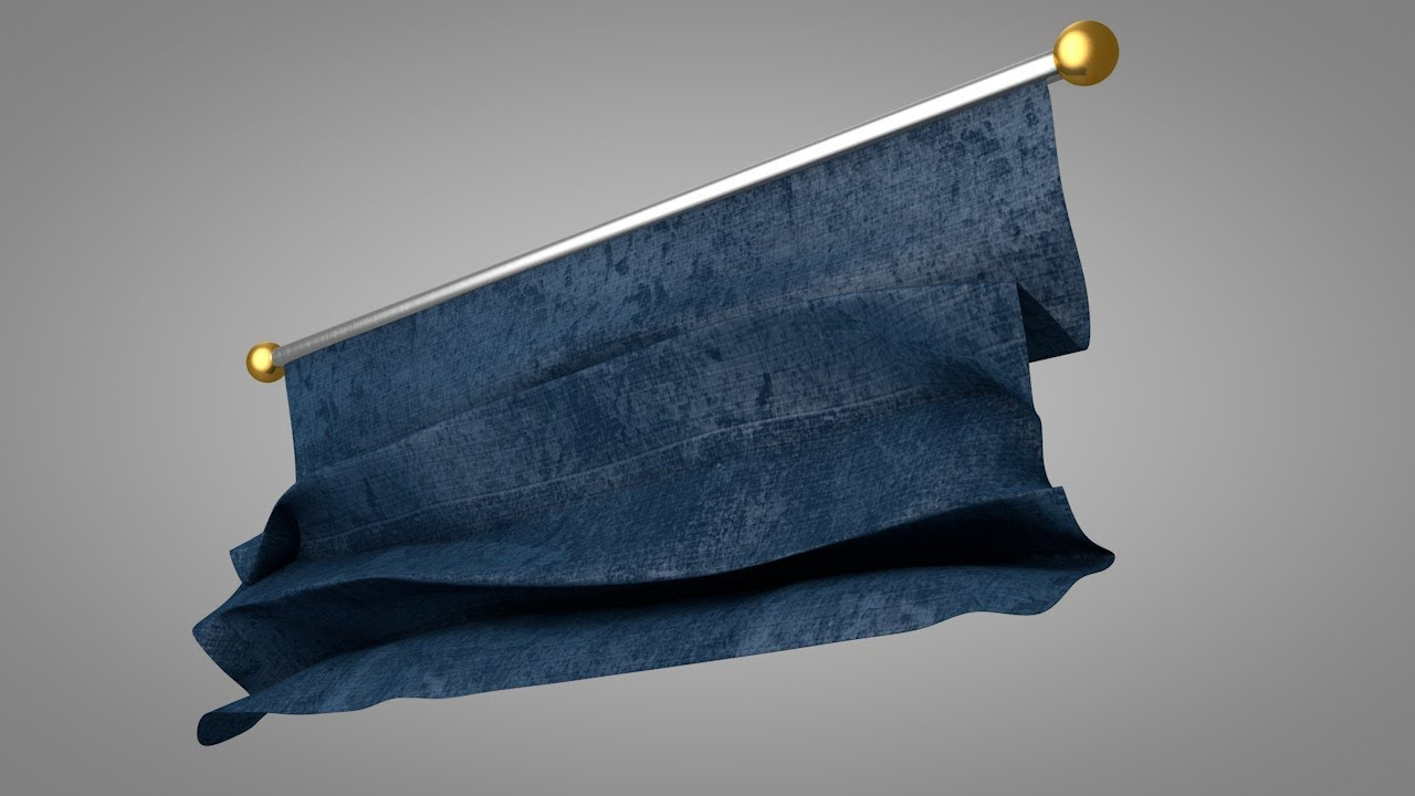 Unrolling Cloth Effect - Cinema 4D Tutorial