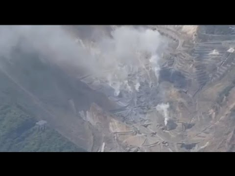 5/17/2015 — Japan's Hakone volcano dormant for 800yrs -- Steaming + RISES 4 inches in 2 weeks!