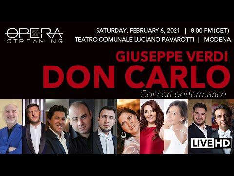 Giuseppe Verdi DON CARLO - OPERA LIVE STREAMING