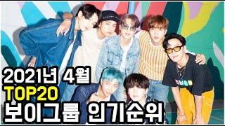 2021년 4월 보이그룹 브랜드평판 TOP20 (남자 아이돌그룹 인기순위) - April 2021, Kore…