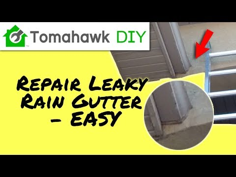 How to Repair a Leaky Gutter (Easy)
