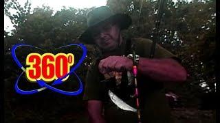 Testowy wędkarski film sferyczny 360 stopni. Kamera Nikon KeyMission 360