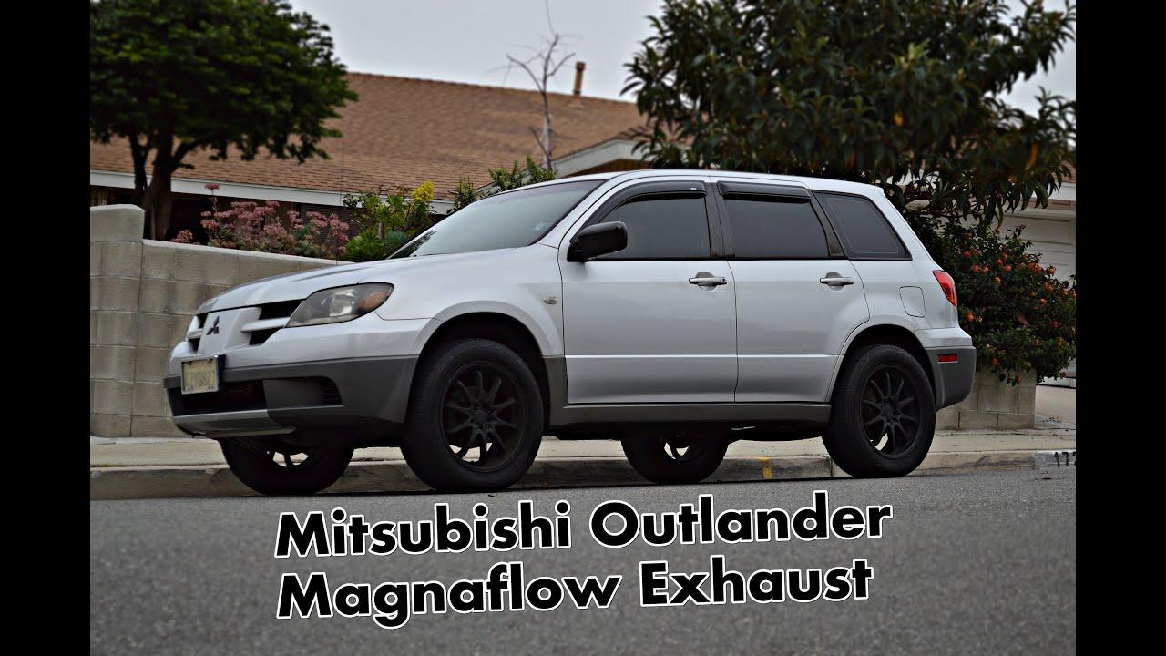 mitsubishi outlander magnaflow 14832 muffler exhaust youtube. Black Bedroom Furniture Sets. Home Design Ideas