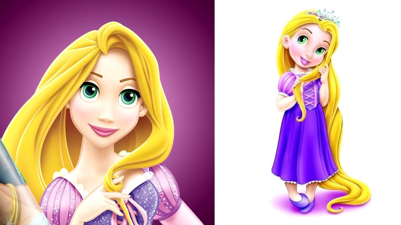Dibujando Princesas Disney Para Niños Y Niñas: Princesas De Disney Versión Niñas ♥ BLANCANIEVES RAPUNZEL