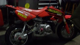 how to change the oil in a honda crf 50