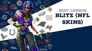 Best Combos | Blitz | fortnite NFL Skin Review