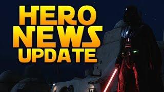 NEWS UPDATE: Lightsaber Ignition, Hero Health Cards, Changing Skins In-game - Battlefront 2