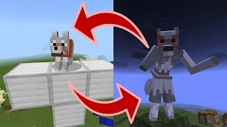 How to Spawn a WEREWOLF | Minecraft PE (Pocket Edition) MCPE Mystic Mobs Addon