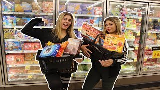 10,000 CALORIE CHALLENGE || girls vs food || Caci Twins