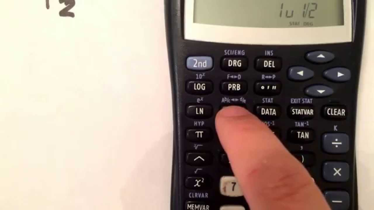 converting from a decimal to a fraction using your ti-30x iis