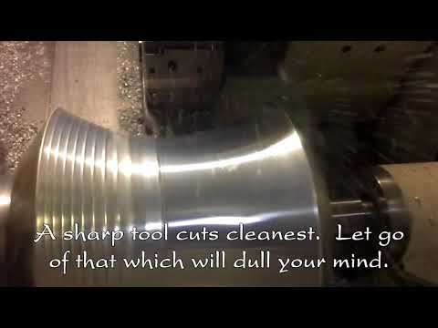Zen of Machining - E1 Aluminum Hourglass Figure on CNC Lathe