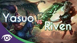 Repeat youtube video 1v1 Mid: Yasuo vs Riven [Champion Rap Battles]