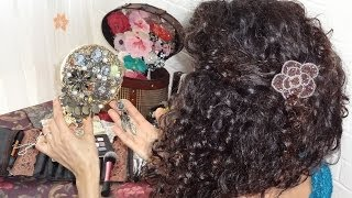 How To Do It Yourself Projects - Decorating Your Hand Mirror Jewelry Vintage/antique/victorian