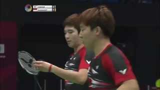 Yonex Sunrise Hong Kong Open 2015 | Badminton QF M5-MD | Kim/Kim vs Ahs/Set