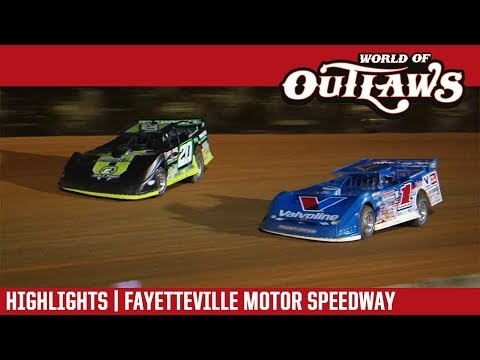 World of Outlaws Craftsman Late Models Fayetteville Motor Speedway May 13, 2018 | HIGHLIGHTS