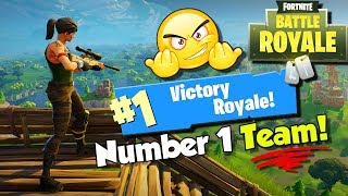 TEAM VICTORY ROYALE ON THE FIRST TRY!! Team Battles Fortnite Battle Royale
