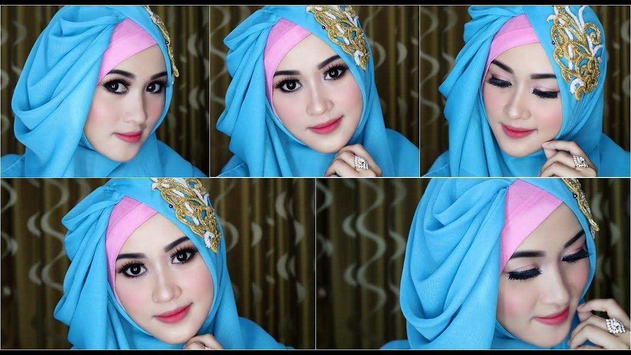 4 tutorial hijab segi empat dengan beragam pariasi dan model