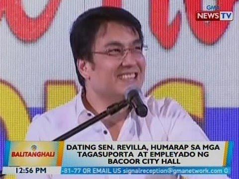 BT: Bong Revilla, humarap sa mga tagasuporta at empleyado ng Bacoor City Hall