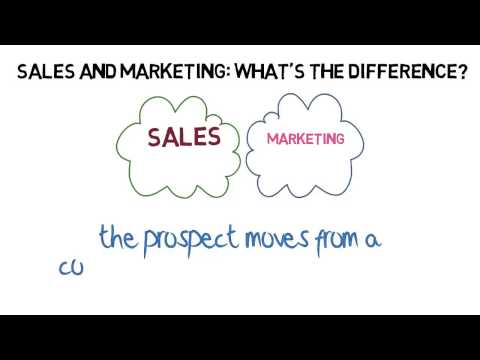 Sales and Marketing --What's the Difference?