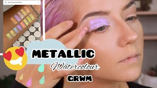 Metallic Watercolour GRWM