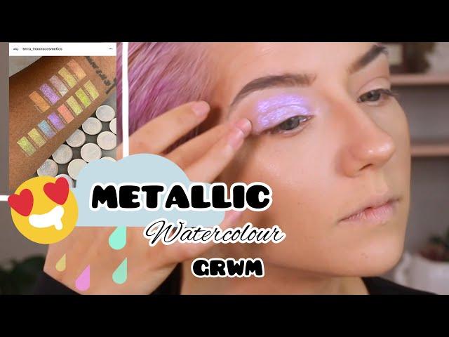 Metallic Watercolour GRWM