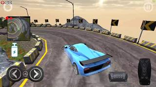 Drive Car On Asphalt Road  Black Racing / 3D Drift Racing Games / Android Gameplay FHD