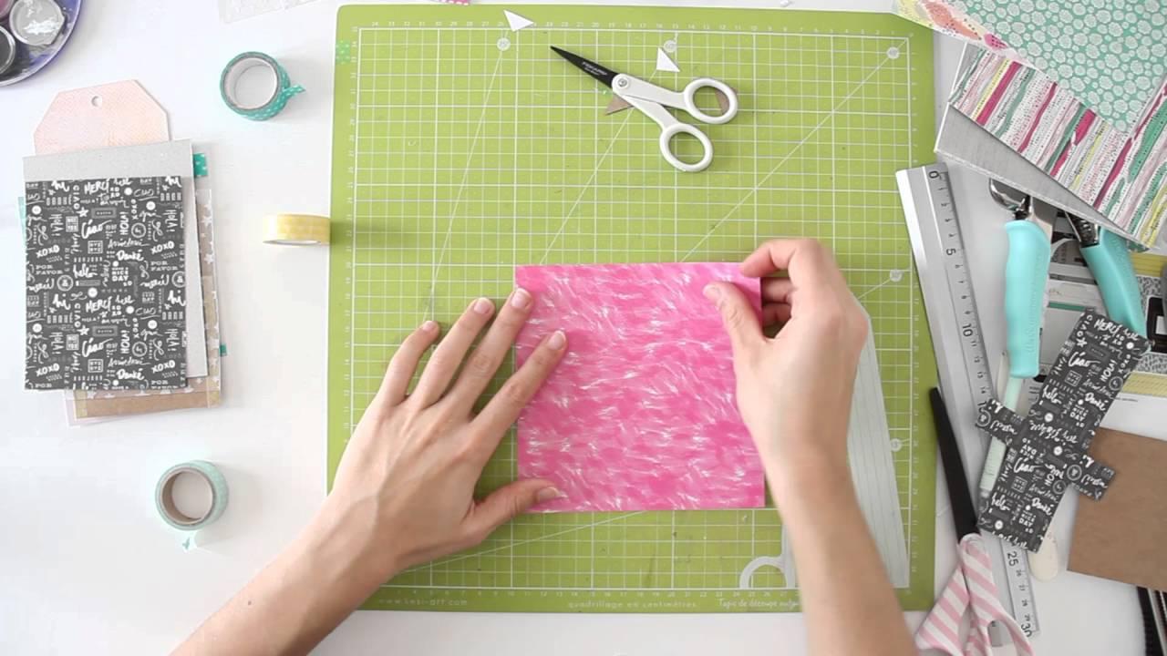 Scrapbook ideas step by step - Kit Mini Book Home Sweet Home Scrapbooking Tutorial Step By Step