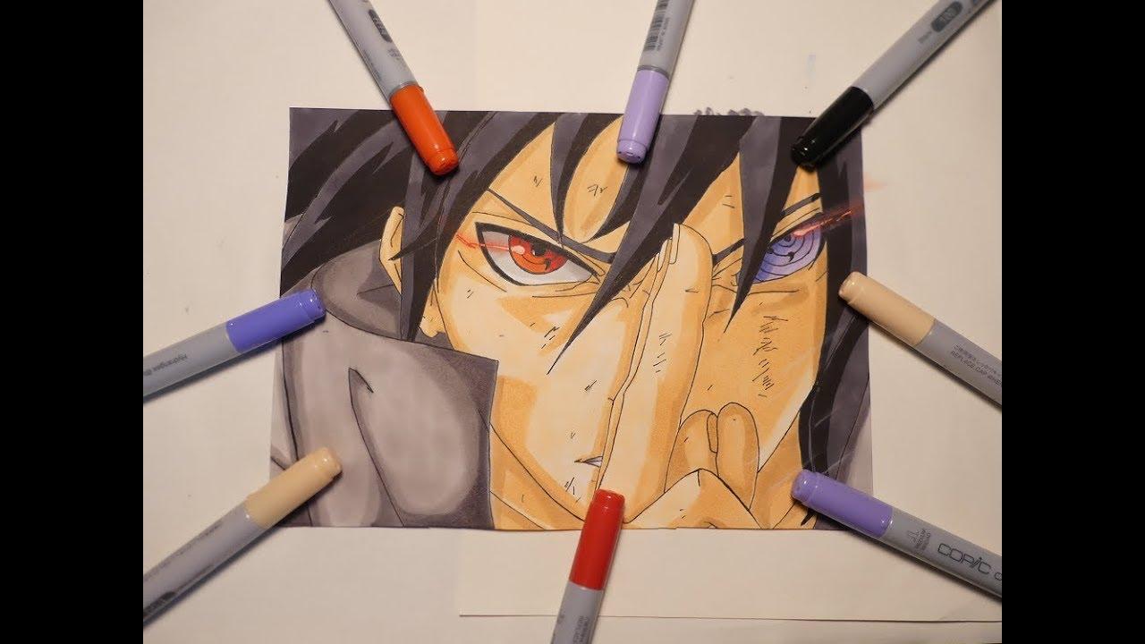 Drawing Sasuke Naruto Shippuden Petit Dessin Manga