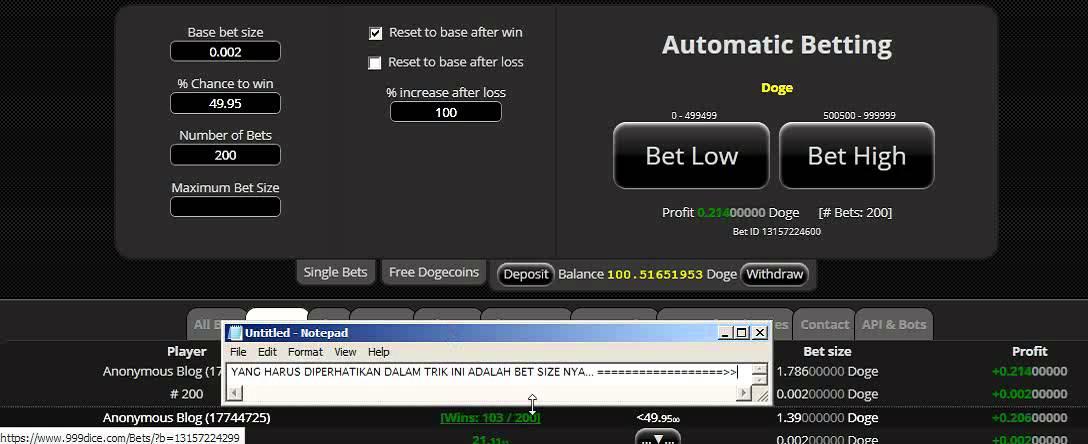 Trik 999dice betting como obter bitcoins for free