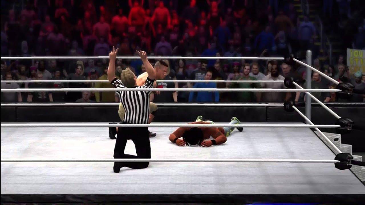WWE 2K14 Kofi Kingston vs John Cena Hidden Characters ...