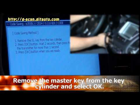 G-scan Transmitter code saving(Remote) on a Hyundai Tucson ix35 2.0GDI 2014