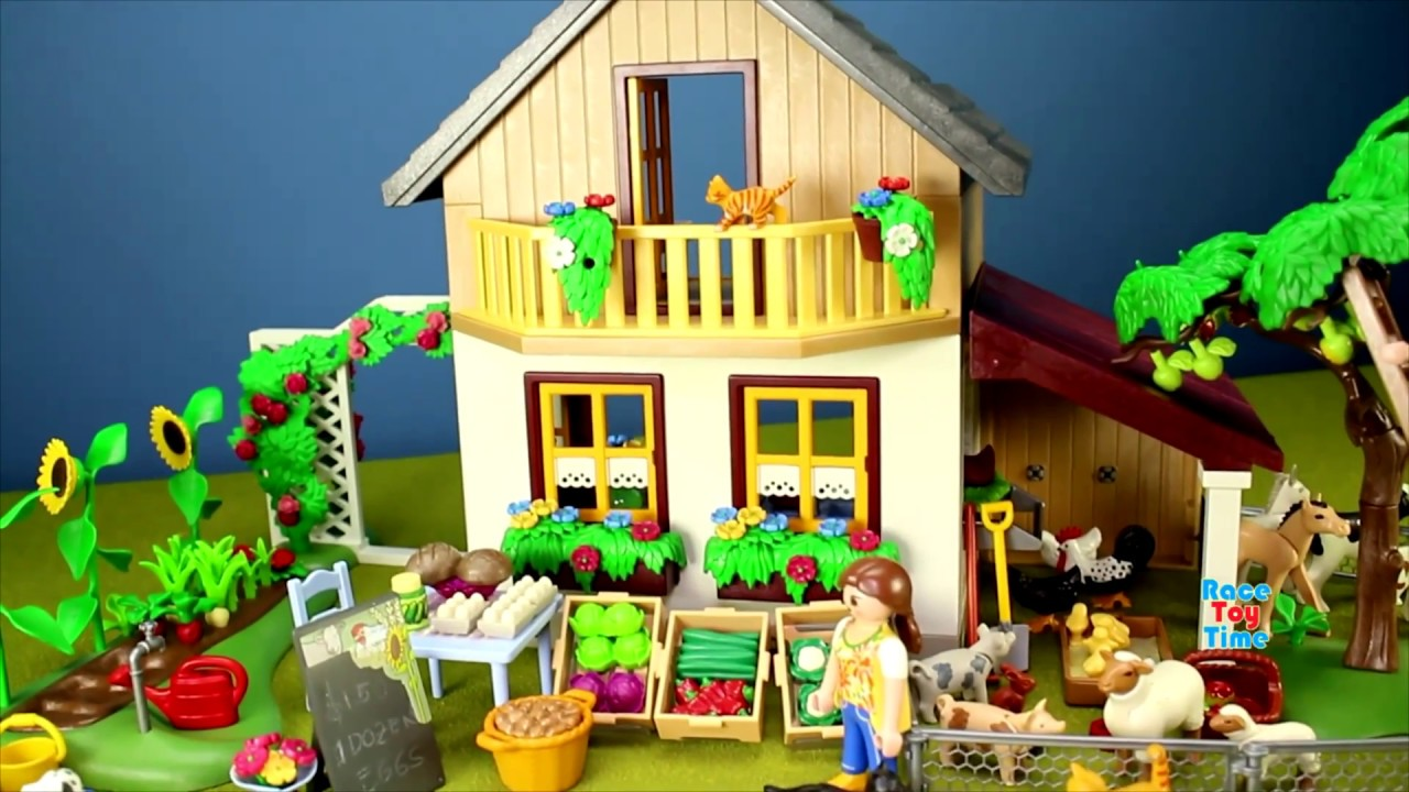 Playmobil Country Farm House Barn Animals Toys For Kids Videos ... for Playmobil Farmhouse 535wja