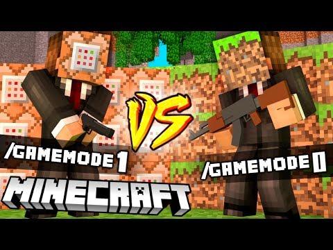 GAMEMODE 1 VS GAMEMODE 0 - MINECRAFT CHALLENGE | BAZA BLOCK vs BAZA MATRUNER