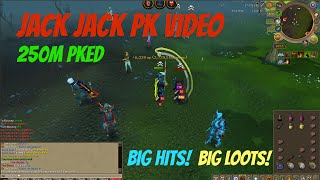 Jack Jack 250m Pk Vid - Big Hits and Big loots! / Runescape Legacy Pking 2016