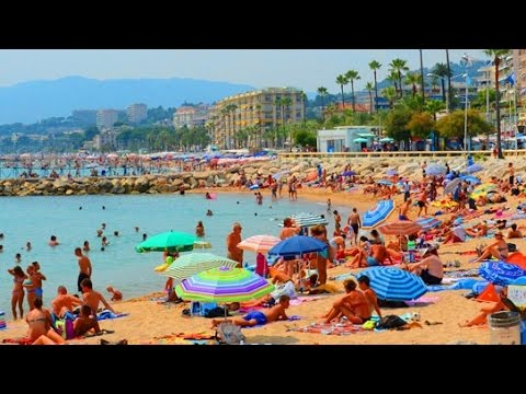 cannes beach cote d 39 azur france youtube. Black Bedroom Furniture Sets. Home Design Ideas