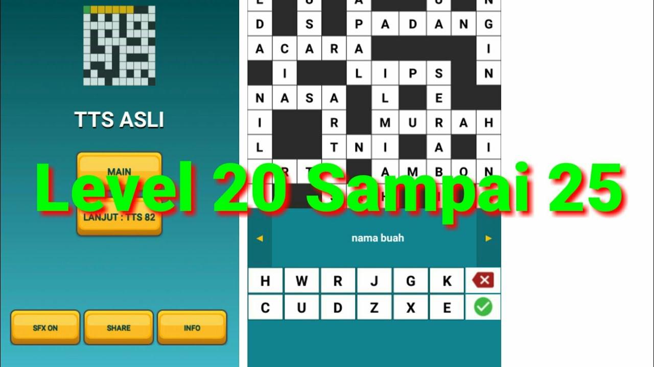 Kunci Jawaban Game Tts Asli Level 20 21 22 23 24 25 Youtube