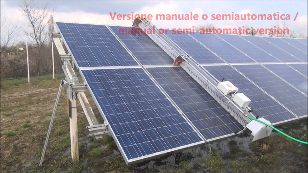 solar panel cleaning system pdf