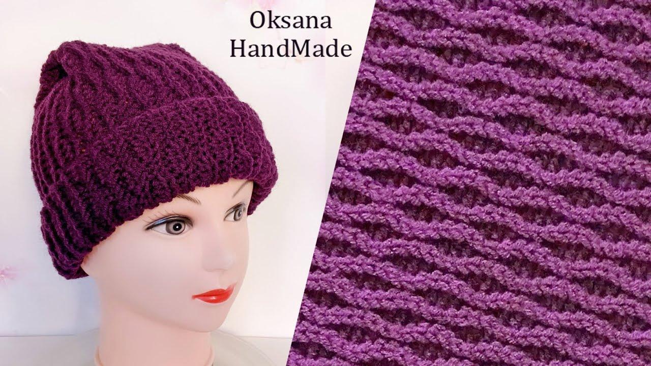 ШАПКА ЗА ВЕЧЕР. Мастер класс. Новый узор.  Women's Crochet Hat