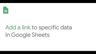 How To: Add a link to specific data in Google Sheets