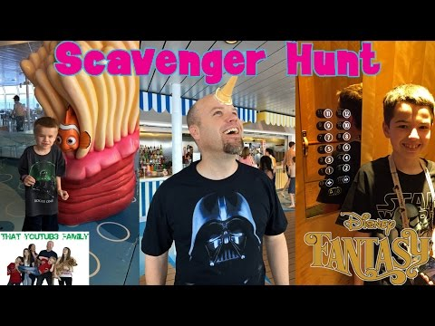 Crazy Scavenger Hunt on The Disney Fantasy Cruise Ship / That YouTub3 Family