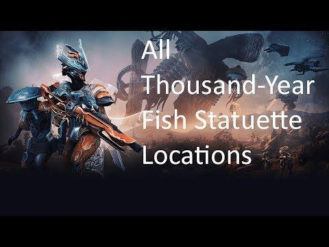 Warframe - Plains Of Eidolon (All Thousand-Year Fish Statuette Locations)