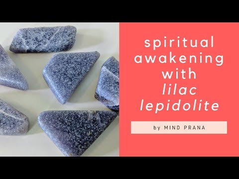Spiritual awakening and divine presence with Lilac lepidolite